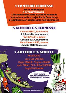 Salon du Livre Marmande - parcours musical - Jardin remarquable de Beauchamps