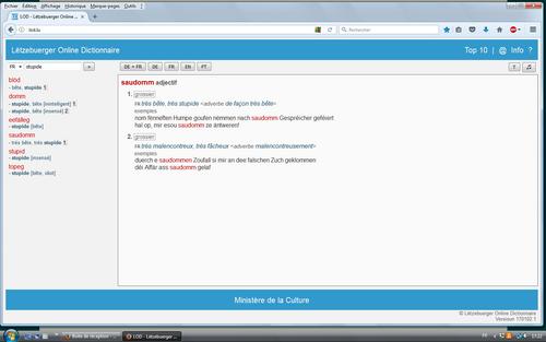 Lëtzebuerger online Dictionnaire
