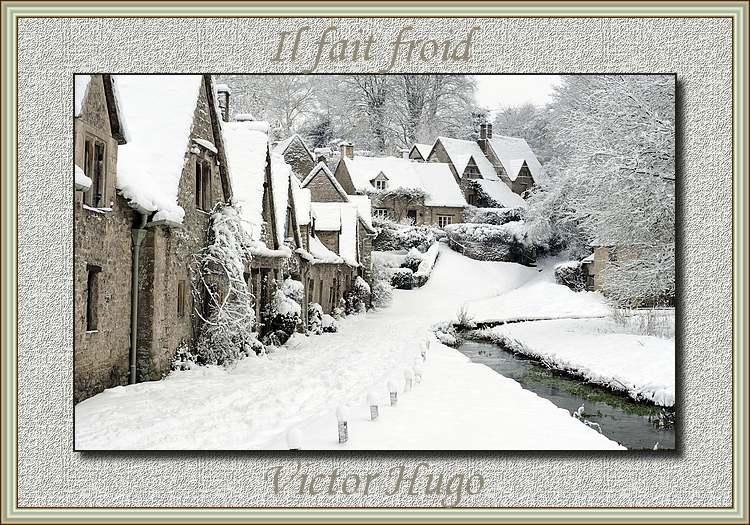 """"""" Il fait froid """" poème de Victor Hugo"""