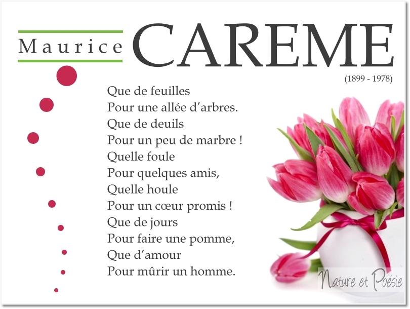 Poemes De Maurice Carême Que De Feuilles Le Monde