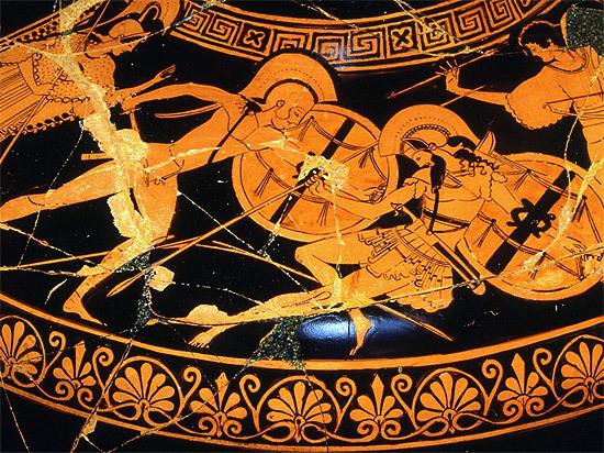 Le combat d'Achille et d'Hector