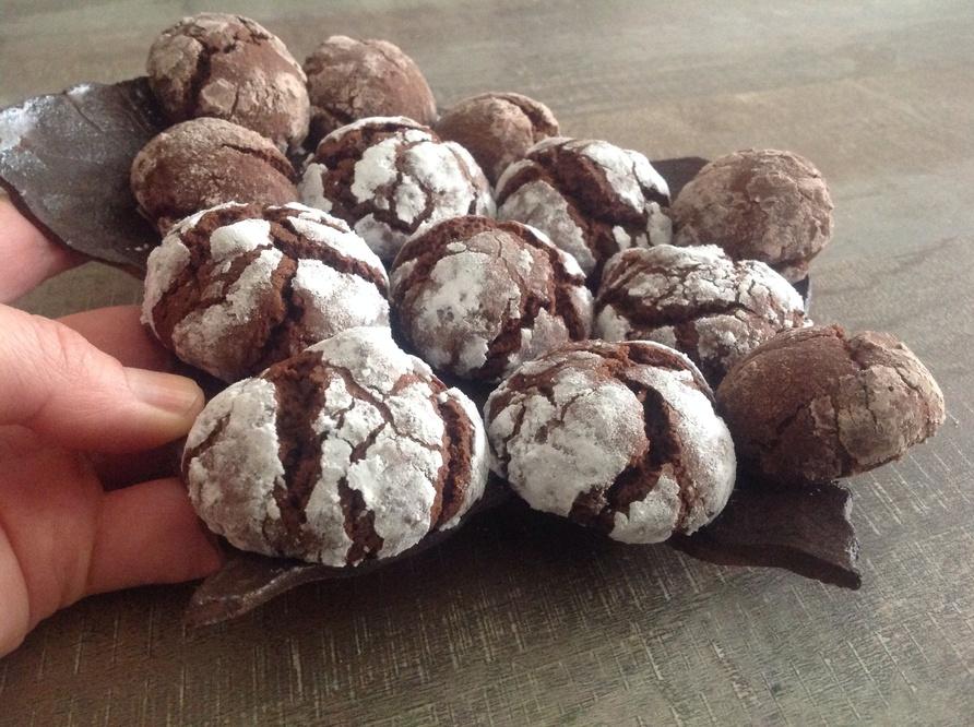 Craquelins au chocolat.