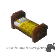 lit jaune simple - animal crossing DS
