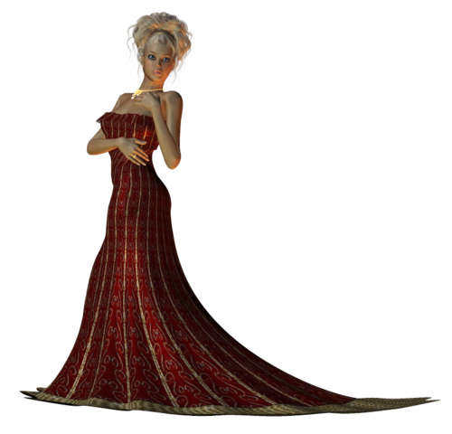 filles en 3D avec robes