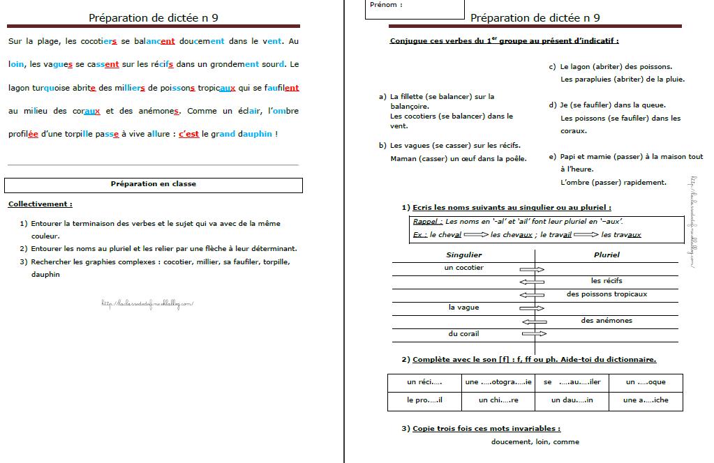 accord du verbe avec le sujet exercices pdf