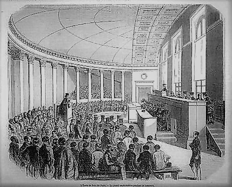Le nouvel amphithéâtre de la Faculté de Droit de Paris (L'Illustration, 1847)