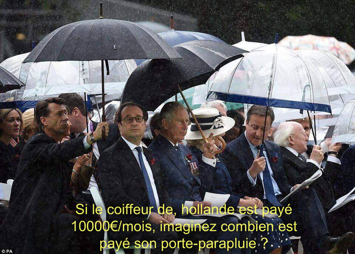 Le coiffeur de François Hollande payé 9 895 euros brut par mois....