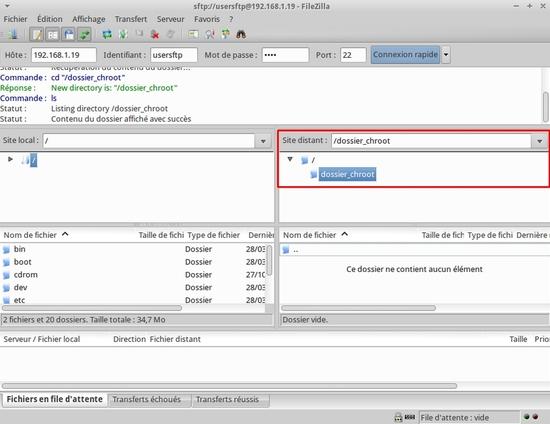 Créer un chroot pour les utilisateurs du service ssh