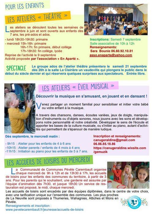Les activités proposées à La Neuville