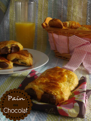 Pain au Chocolat 100 % Home Made