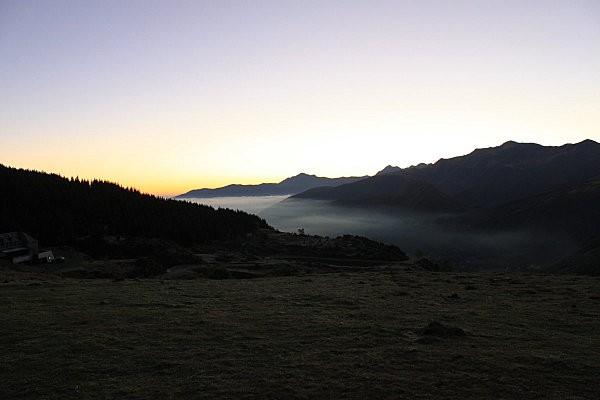 lever de soleil depuis le soulor