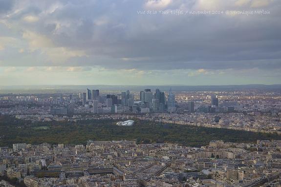 Vues de Paris du 2ème étage de la Tour Eiffel