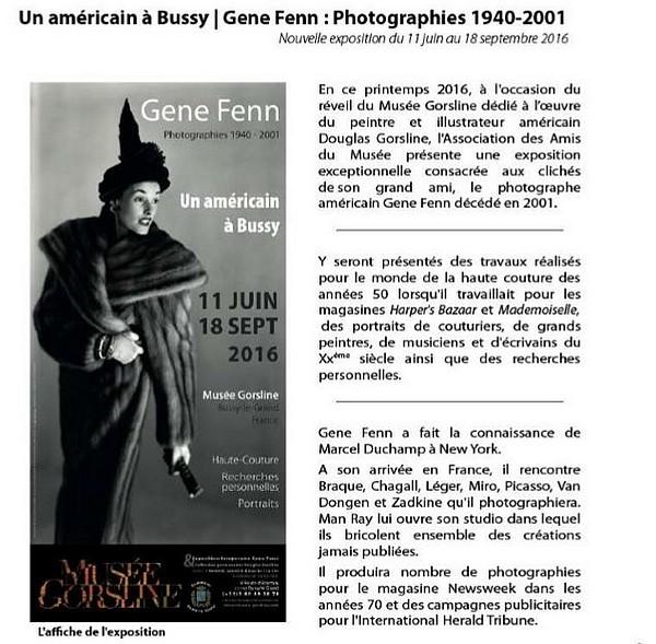 """Une très belle exposition de photographies """"Un Américain à Bussy"""", va avoir lieu bientôt au Musée Gorsline..."""