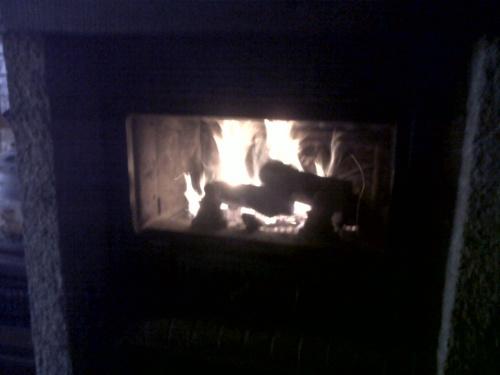 Premier feu de bois de l'année