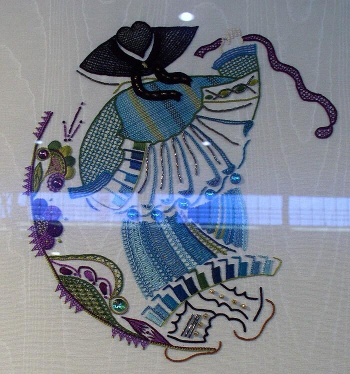 Photos de l'école de broderie d'art de Quimper AEF 2012
