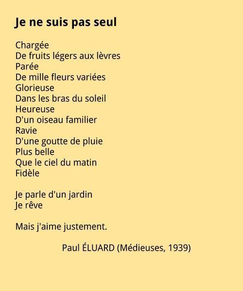 Paul ÉLUARD (1895-1952) Notice biographique Malade dès son jeune âge, il est confronté tantôt avec le malheur, tantôt avec le bonheur. En 1912, il est contraint d'interrompre ses études pour entrer…