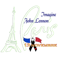 lennon, imagine, paris ,13 novembre
