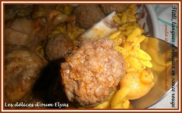 Tlitli au poulet et boulettes de viande hachée (8)