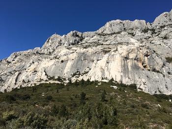 Au Nord, les falaises de la Sainte-Victoire