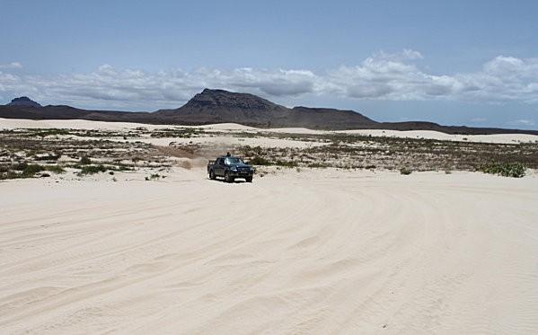 pick up dans le désert