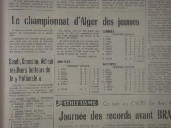 les jeunes du MCA sur le podium (cadets champion d'Alger)