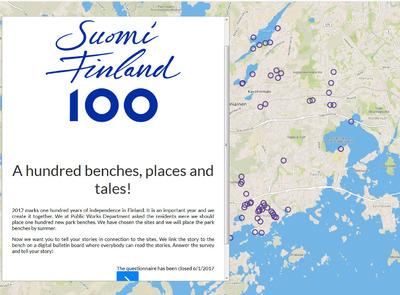 Une carte participative pour implanter 100 bancs dans 100 lieux