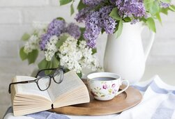 Café, Livre, Fleurs, Paramètre