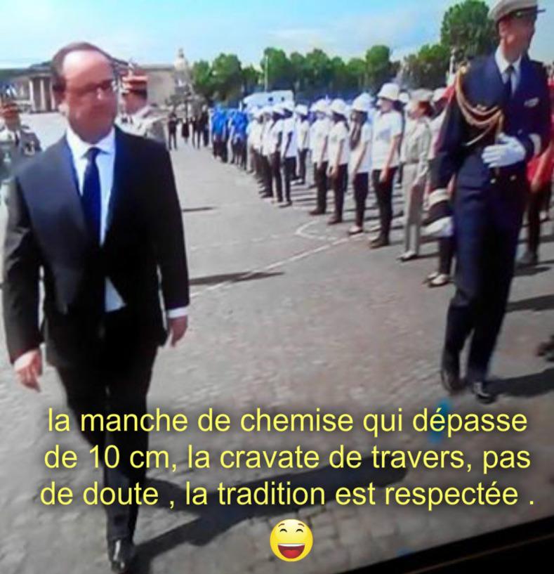 Hollande : 14 Juillet 2016 tradition respectée !