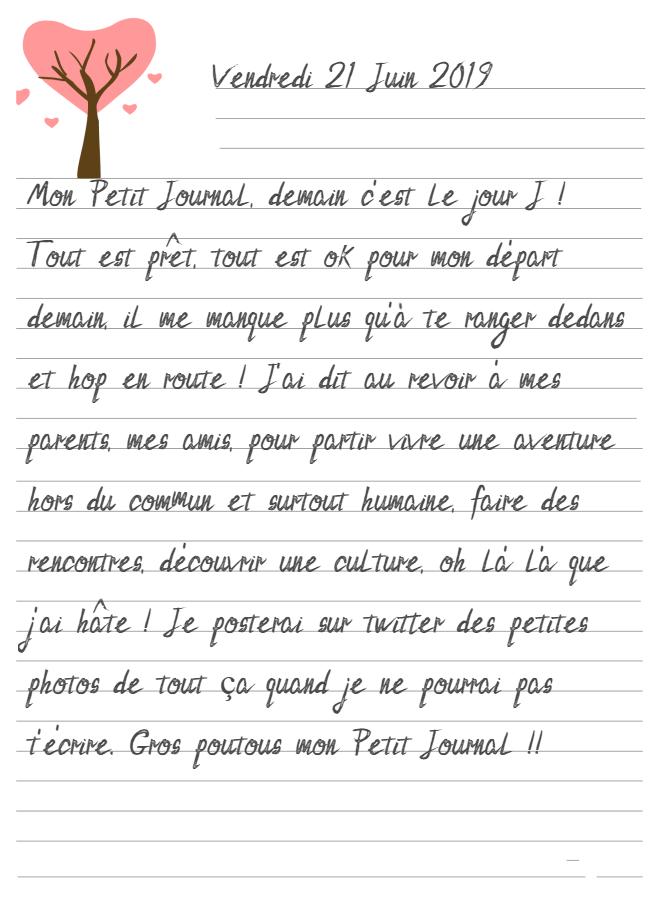 Journal de Mireille, 21 Juin 2019