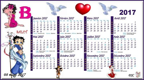 Betty Boop - CALENDRIER  2017 -
