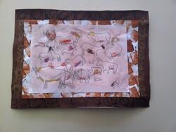Un cadre de peinture rupestre, très largement inspiré de Thémamaternelle.
