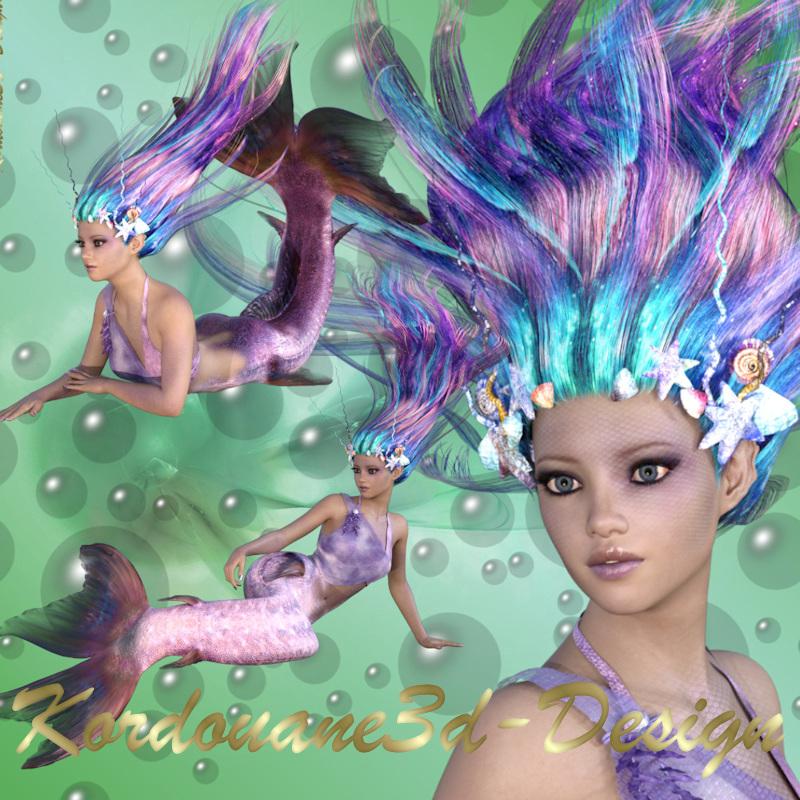 Siréna : 3 tubes de femme sirène (image-png)