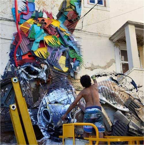 Street art : les incroyables animaux poubelles de Bordalo II