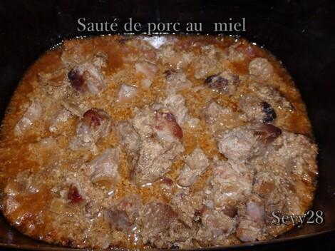 Sauté de porc au miel (mijot'cook)