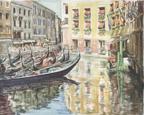 Port des gondoles à Venise