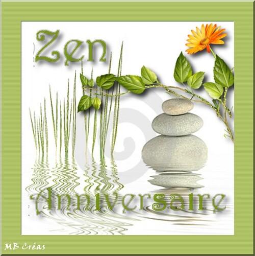 CARTE ANNIVERSAIRE Zen