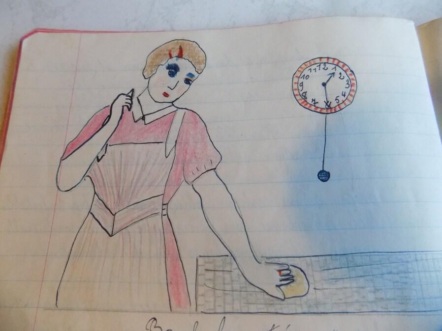 Un cahier de devoirs écrit en 1941!