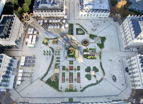 Un drone a survolé les Jardins Ephémères de Nancy