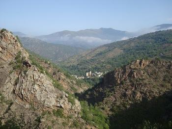 Le village vu du départ de la balade dans les gorges