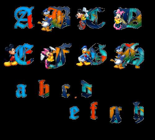 alphabet Disney