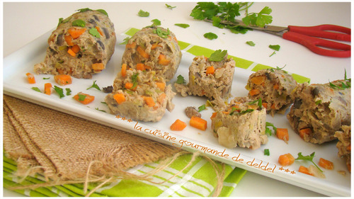 "PAIN DE VEAU AUX LÉGUMES,""Weight Watchers"""