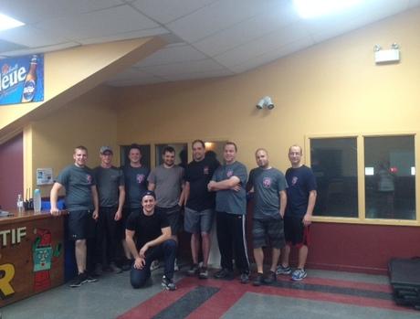 Mise en forme chez les pompiers de Lambton!!!!!