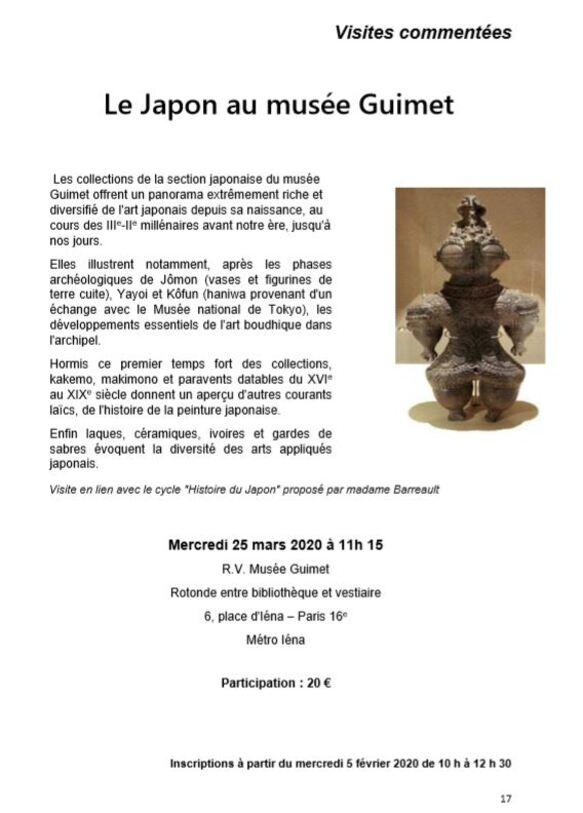 Le japon  au musée Guimet