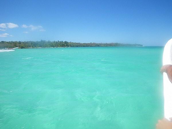 vers l'île de Saona en bateau rapide -5- la piscine nature