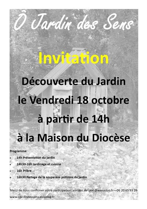 Découverte du Jardin le 18 octobre