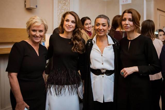 Rania à Londres
