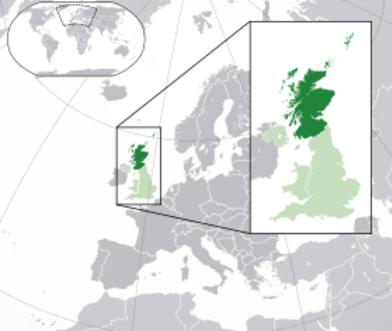 Localisation de l'Écosse