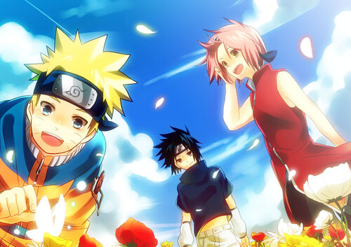 Naruto, Sasuke et Sakura