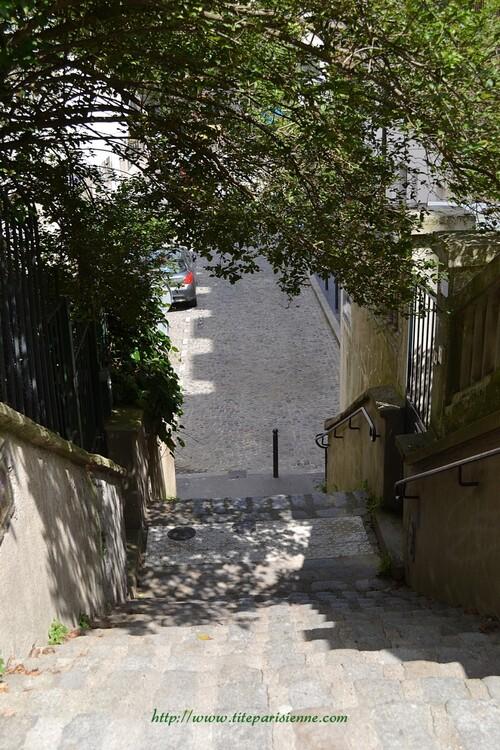 Paris 19ème - Quartier de la Mouzaïa - Villa Claude Monet