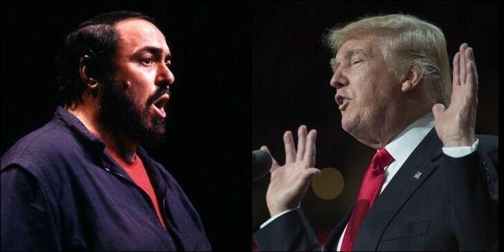 La famille de Luciano Pavarotti a protesté contre l'utilisation par Donald Trump d'un air de Puccini interprété par le défunt ténor italien, dont les valeurs seraient «incompatibles» avec le candidat républicain.